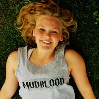 Mudblood Tank Top. Unisex Sizing. from Evangelina's Closet