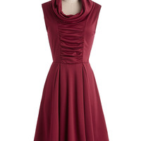 Storytelling Showstopper Dress in Burgundy | Mod Retro Vintage Dresses | ModCloth.com