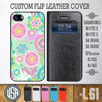 Cute Flower Flip Leather Cover @ Samsung Galaxy S4 case Galaxy S3 Samsung Note 3 Galaxy Note 2 IPhone 5 case 5S IPhone 4 case 4S Cover L61