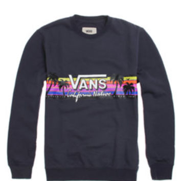 Vans Cali Native II Crew Fleece - Mens Hoodie - Blue -