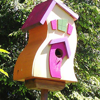 Custom Order Large Wavy Birdhouse FREE SHIPPING by Retrospectshop