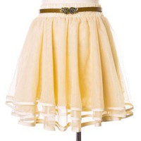 Delicacy Triple Layers Tutu in Ivory - Retro, Indie and Unique Fashion