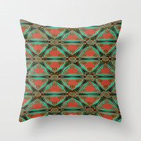 Moorish Earth Throw Pillow by Ally Coxon | Society6