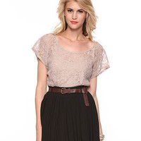 Sheer Lace Tee - Tops - Dressy - 2064787577 - Forever21