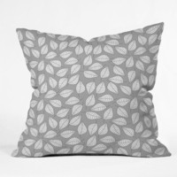 DENY Designs Home Accessories | Bianca Green Leafy Throw Pillow