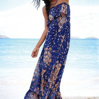 Strapless Ruffle Maxi Dress - Victoria's Secret