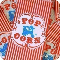 25 Retro Wagon Popcorn Bags by HeyYoYo on Etsy