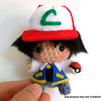 Ash Ketchum Amigurumi by AnyaZoe on Etsy