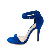 SINGLE SOLE ANKLE STRAP HEELS