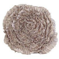 Amazon.com: Pillow Round Rosette Beige: Home & Garden