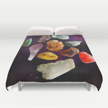 Space Rocks! Duvet Cover by DuckyB (Brandi)