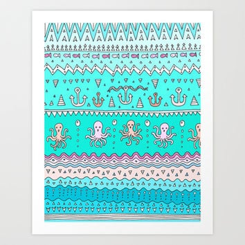 Sea Lines Art Print by Ornaart
