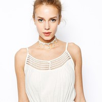 Limited Edition Faux Pearl Crochet Choker Necklace