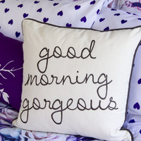 Gorgeous Script Throw Pillow