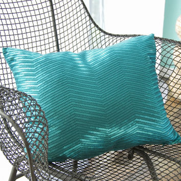 Sequin Chevron Throw Pillow