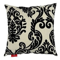 Amazon.com: Seven Comforts Premium Decorative Throw Pillow - 18 x 18 x 6, Polyester Jacquard - Sandy Beige: Furniture & Decor