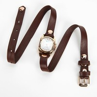 La Mer Chateau Wrap Watch- Brown One Size- Brown One
