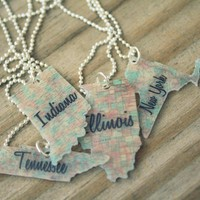 Custom State Necklace | Luulla