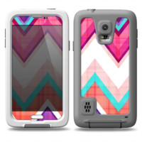 The Vibrant Teal & Colored Chevron Pattern V1 Skin Samsung Galaxy S5 frē LifeProof Case