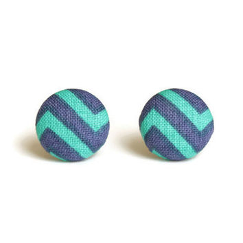 Blue and Green Earrings, Sensitive Earrings, Button Earrings, Earrings Sensitive Ears, Surgical Steel Earring, Sensitive Skin, Jewlery