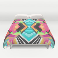 Space Garden / Pattern Duvet Cover by Elisabeth Fredriksson