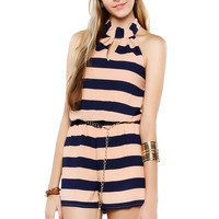 Papaya Clothing Online :: HALTER STRIPE ROMPER