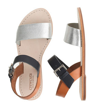 GIRLS' COLORBLOCK SANDALS