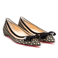 CHRISTIAN LOUBOUTIN | Suspenodo Metallic Flats | Browns fashion & designer clothes & clothing