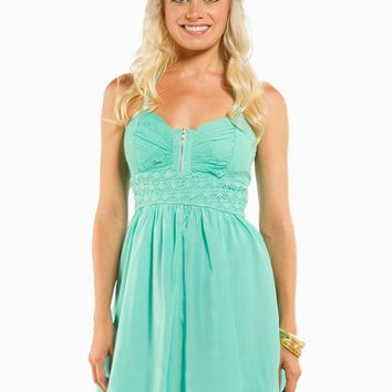 LACE CROCHET HALTER DRESS
