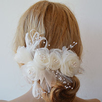 Wedding  Flower Hair Combs,  Wedding Hair Accessories,  Bridal Flower  Hair Combs, Hair Flower, Bridal Hair Accessories