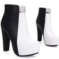 Platform ankle boots modern designed favorable price dual colored women shoes Z-JM230-9-Lovelyshoes.net