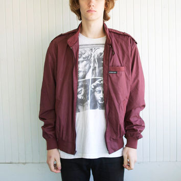 Burgundy Member's Only Jacket