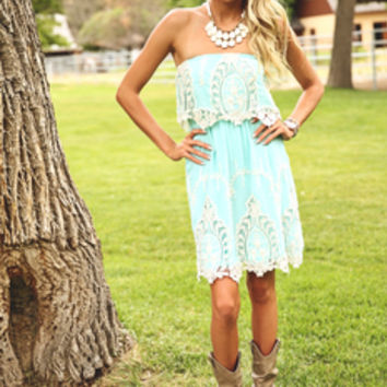 Summer Lovin Lace Ruffle Dress
