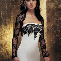 Buy discount Exquisite Elegant Divine Satin Mermaid Strapless Wedding Dress In Great Handwork at dressilyme.com