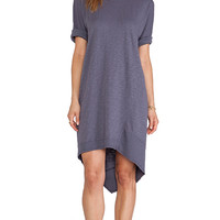 Wilt Slub Dolman Backslant Dress in Gray