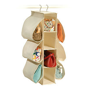 Natural Canvas Handbag Organizer | Closet Organization| Bed &amp; Bath | World Market