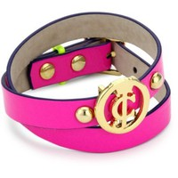 "Juicy Couture ""Wave Catcher Key Items"" Neon DBL Ultra Fuchsia Wrap Bracelet"