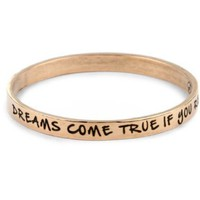Ettika Rose Gold Colored Bangle Dreams Come True If You Really Want Them To