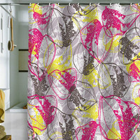 DENY Designs Home Accessories | Rachael Taylor Organic Retro Leaves Shower Curtain