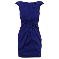 Bqueen Bold Colourful Dress Blue K260L - Designer Shoes|Bqueenshoes.com