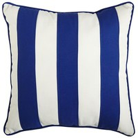 Cabana Stripe Pillow - Cobalt