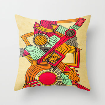 Semi Erratic Throw Pillow by DuckyB (Brandi)