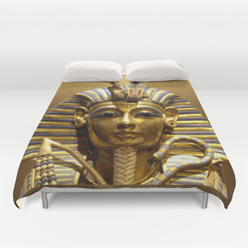 Egypt King Tut Duvet Cover by Erika Kaisersot