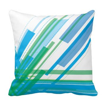 Pillow - Colorful Fun Lined Abstract Design