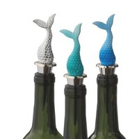 Mermaid Tail Wine Bottle Stopper (Blue)
