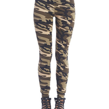 Camo Print Leggings | Wet Seal