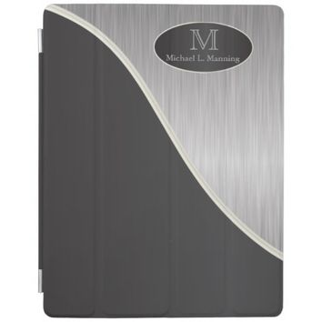 Elegant Monogram Styled Silver and Black
