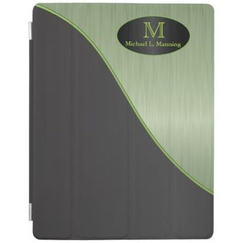 Elegant Monogram Peridot Brush and Black