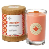 Root Scented Seeking Balance Energize Candle, Rosemary Eucalyptus