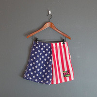 1980's American Flag Shorts / 80's Swim by naturalstatevintage